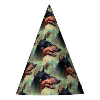 Doberman Pinscher in the Woods Party Hat