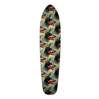 Doberman Pinscher in the Woods Skateboard