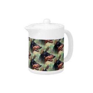 Doberman Pinscher in the Woods Teapot