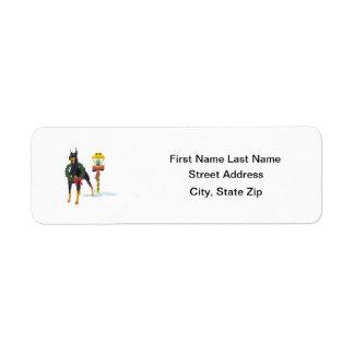 Doberman Pinscher Custom Return Address Labels