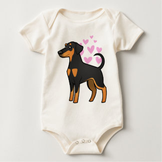 Doberman Pinscher Love (floppy ears) Baby Bodysuit