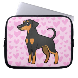 Doberman Pinscher Love (floppy ears) Computer Sleeve