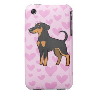 Doberman Pinscher Love (floppy ears) iPhone 3 Case-Mate Case