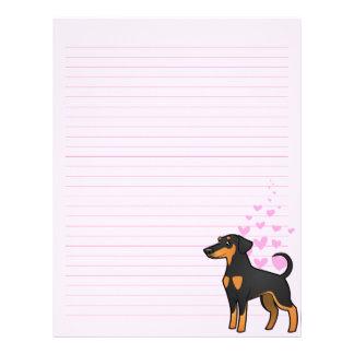 Doberman Pinscher Love (floppy ears) Letterhead