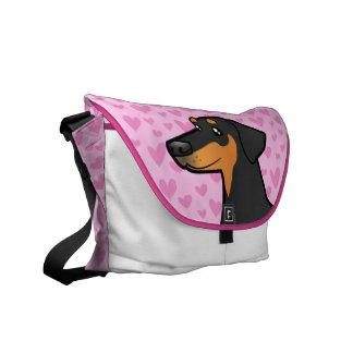 Doberman Pinscher Love (floppy ears) Messenger Bag