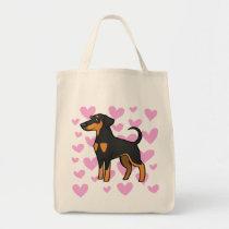 Doberman Pinscher Love (floppy ears) Tote Bag