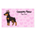 Doberman Pinscher Love (pointy ears) Double-Sided Standard Business Cards (Pack Of 100)