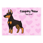 Doberman Pinscher Love (pointy ears) Large Business Cards (Pack Of 100)