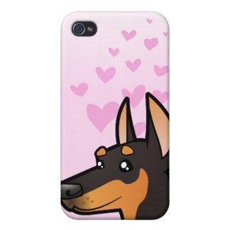 Doberman Pinscher Love pointy ears iPhone 4/4S Cases
