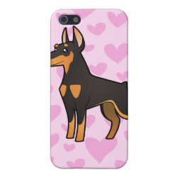 Case Savvy iPhone 5 Matte Finish Case with Doberman Pinscher Phone Cases design