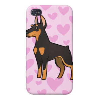 Doberman Pinscher Love pointy ears Case For iPhone 4