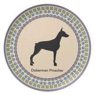 Doberman Pinscher Melamine Plate