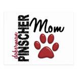 Doberman Pinscher Mom 2 Postcard