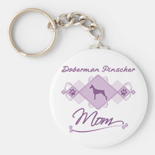Doberman Pinscher Mom Keychain