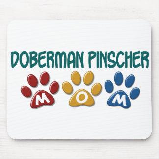DOBERMAN PINSCHER Mom Paw Print 1 Mouse Pad