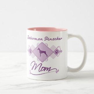 Doberman Pinscher Mom Two-Tone Coffee Mug