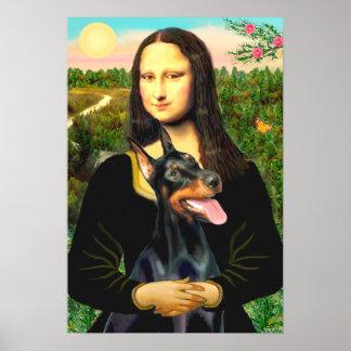 Doberman Pinscher - Mona Lisa Poster