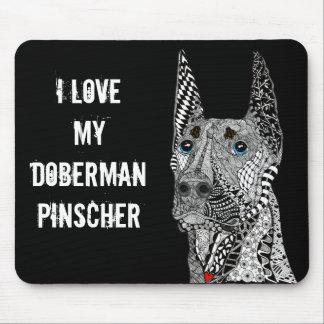 Doberman Pinscher Mousepad (Customizable)