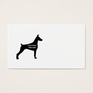 doberman pinscher name silo black.png business card