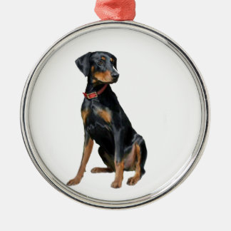 Doberman Pinscher (natural) Metal Ornament