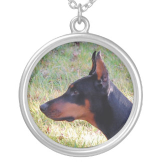 Doberman Pinscher Necklace Side Profile