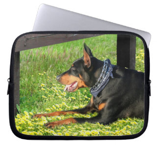 Doberman Pinscher Neoprene Laptop Sleeve