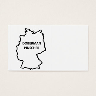 doberman pinscher origin outline business card