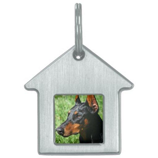 Doberman Pinscher Pet ID Tag