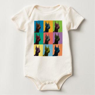 Doberman Pinscher Pop-Art Infant Creeper