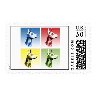 Doberman Pinscher Pop Art Postage