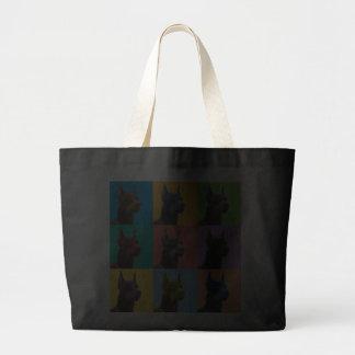 Doberman Pinscher Pop-Art Tote Bag