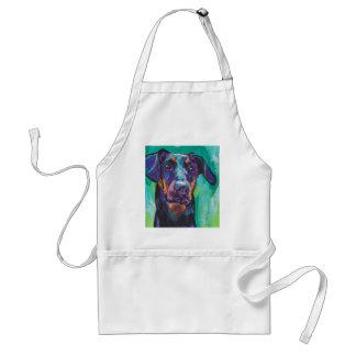 Doberman Pinscher Pop Dog Art Apron