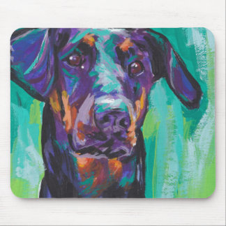 Doberman Pinscher Pop Dog Art Mouse Pad