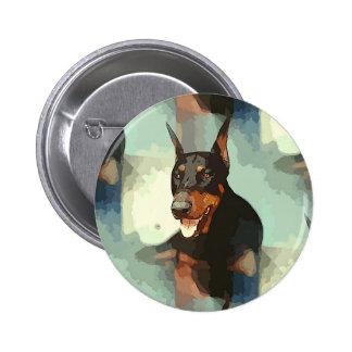 Doberman Pinscher Portrait Pinback Buttons