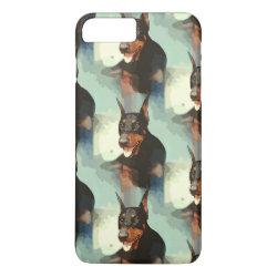 Case-Mate Tough iPhone 7 Plus Case with Doberman Pinscher Phone Cases design