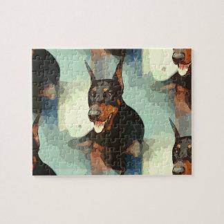 Doberman Pinscher Portrait Jigsaw Puzzle