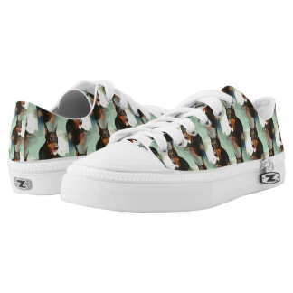 Doberman Pinscher Portrait Low-Top Sneakers