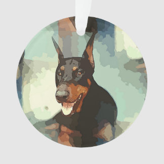 Doberman Pinscher Portrait Ornament