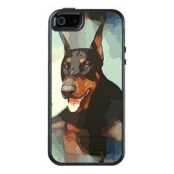 OtterBox Symmetry iPhone SE/5/5s Case with Doberman Pinscher Phone Cases design