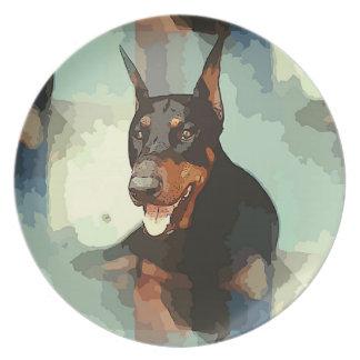 Doberman Pinscher Portrait Plate