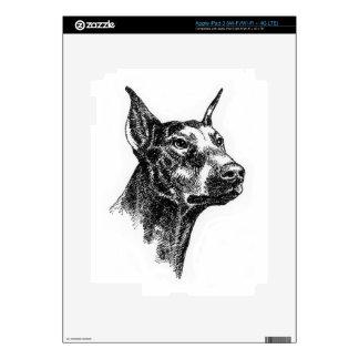Doberman Pinscher Portraits iPad 3 Decal