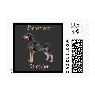 Doberman Pinscher Postage Stamp