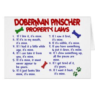 DOBERMAN PINSCHER Property Laws 2 Greeting Card