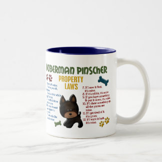 Doberman Pinscher Property Laws 4 Two-Tone Coffee Mug
