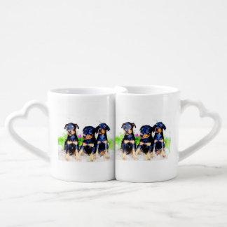 Doberman Pinscher puppies Coffee Mug Set