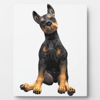 Doberman Pinscher Puppy Sitting Plaque