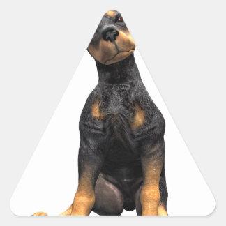 Doberman Pinscher Puppy Sitting Triangle Sticker