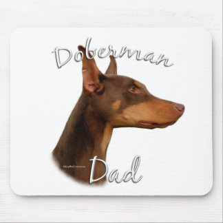 Doberman Pinscher (red) Dad 2 Mouse Pad