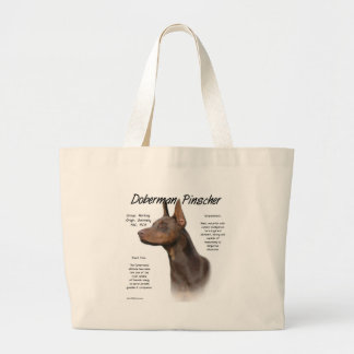 Doberman Pinscher (red) History Design Bag