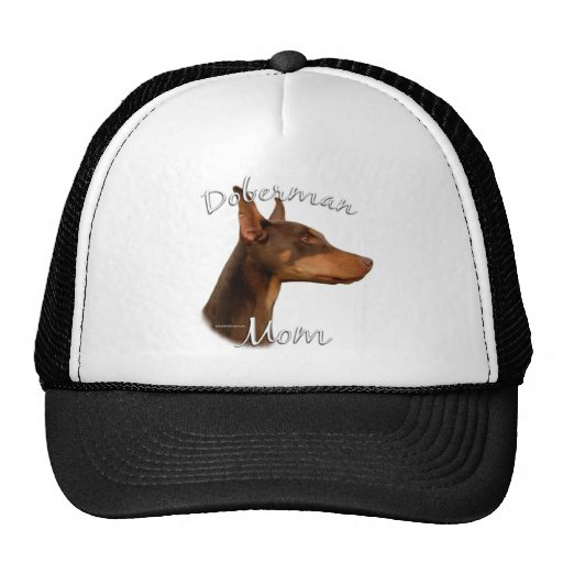 Doberman Pinscher (red) Mom 2 Trucker Hat